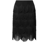 Fringed Crepe Skirt Black Size 0