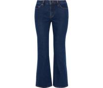 Mid-rise kick-flare jeans