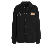 Embellished cotton-gabardine jacket