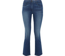 Stanley faded mid-rise kick-flare jeans