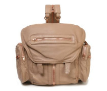 Zip-detailed leather backpack