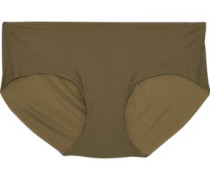 Stretch-jersey Mid-rise Briefs Army Green Size ONESIZE