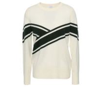 Striped Wool And Cashmere-blend Sweater Ivory