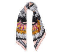 Printed Silk-satin Twill Scarf Baby Pink Size --