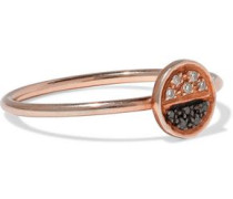 Eclipse rose gold-plated sterling silver crystal ring
