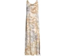 Tie-dyed crepe midi dress