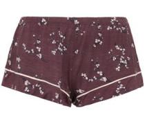 Daisy Floral-print Stretch-modal Jersey Pajama Shorts Grape