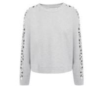 Marci Embellished Stretch-jersey Sweatshirt Stone