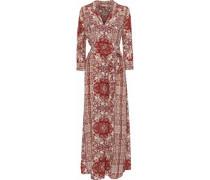 Cameron Printed Silk Crepe De Chine Maxi Dress Multicolor