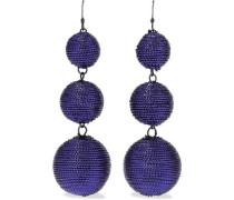 Gunmetal-tone cord earrings