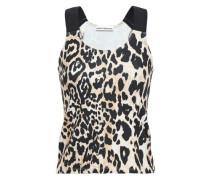 Woman Leopard-print Stretch-jersey Tank Animal Print