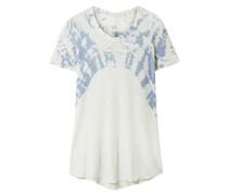 Boxy Tie-dyed Cotton-jersey T-shirt Ivory Size 1