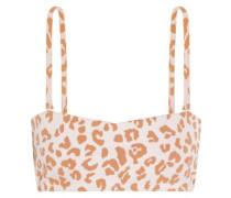 Hossegor leopard-print bandeau bikini top