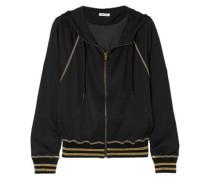 Campus Metallic Jersey Hooded Top Black