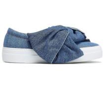 Knotted Denim Slip-on Sneakers Mid Denim