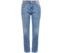 Woman High-rise Slim-leg Jeans Light Denim
