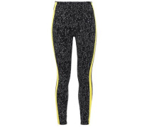 Printed Stretch-knit Leggings Black