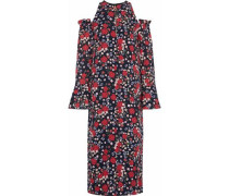 Carmela cold-shoulder floral-print silk-georgette midi dress