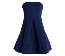 Strapless pleated crepe mini dress
