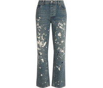 Painted High-rise Boyfriend Jeans Mid Denim  5