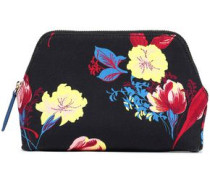 Printed canvas cosmetic case