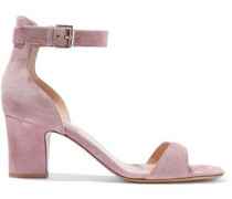Woman Suede Sandals Lilac