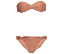 Embroidered Low-rise Bikini Briefs Antique Rose