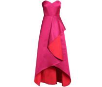 Draped Two-tone Duchesse Satin Gown Fuchsia