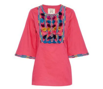 Nilu tasseled embroidered cotton tunic