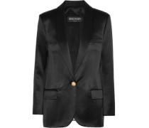 Silk-satin Blazer Black