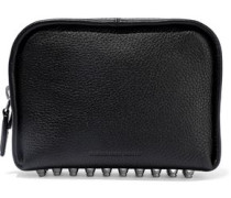 Fumo Studded Pebbled-leather Cosmetics Case Black Size --