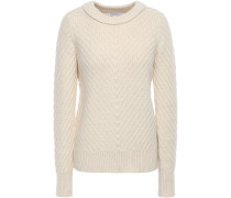 Woman Cheree Ribbed Cotton-blend Sweater Ivory