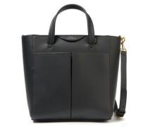 Nevis Leather Shoulder Bag Black Size --