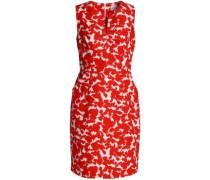 Printed cotton-faille mini dress