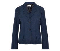 Cotton-poplin blazer