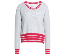 Embroidered French Cotton-terry Sweatshirt Light Gray