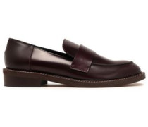 Glossed-leather Loafers Merlot