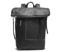 Leather Backpack Black Size --