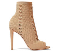 Vires 105 Open-knit Ankle Boots Sand
