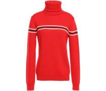 Striped Merino Wool Sweater Red