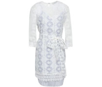 Embroidered Organza Mini Dress White