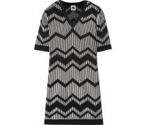 Crochet-knit Dress Black