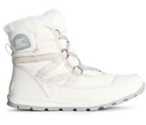 Whitney Faux Fur-trimmed Shell Snow Boots Cream