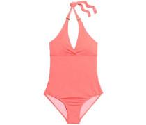Printed halterneck swimsuit