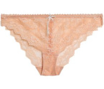 Masquerade Muse low-rise satin-trimmed lace briefs