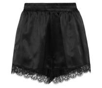 Margo lace-trimmed satin pajama shorts