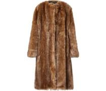 Woman Oversized Faux Fur Coat Light Brown