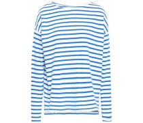 Striped Cotton-jersey Top White Size 0