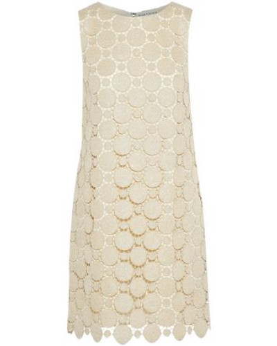 Clyde metallic guipure lace mini dress