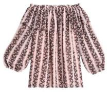 Bellagio off-the-shoulder floral-print crepe de chine top